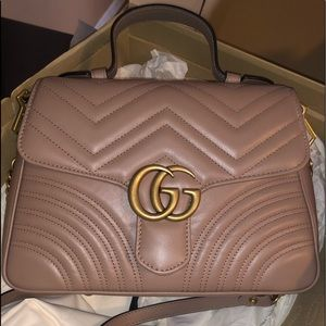 Gucci Marmont bag with handle blush Brand new